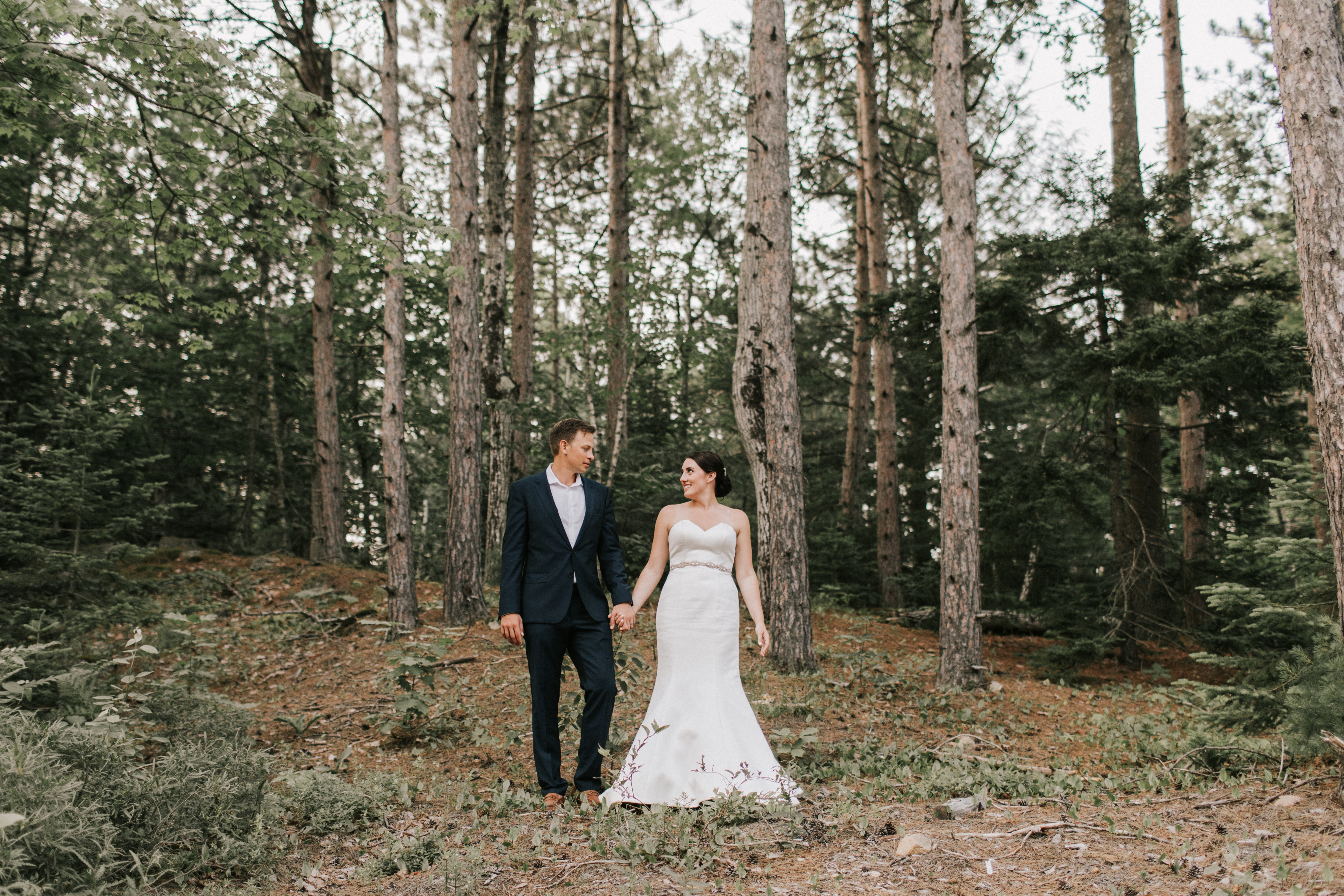 Bride and Groom portrait photography at Hidden Pond Wedding in Kennebunkport, Maine