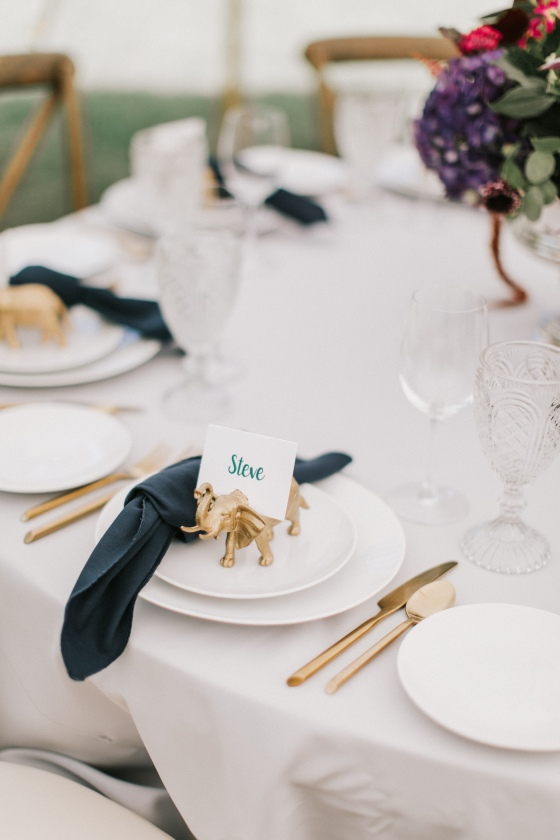 Classic tablescape at Maine wedding