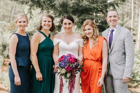 Bridal party at Hidden Pond in Kennebunkport Maine